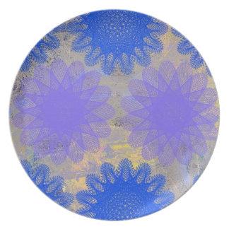Floral Melamine Dinnerware Plates