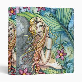 Floral Mermaid Binder by Molly Harrison