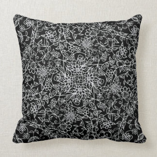 Floral Mirrored Swirls   Beautiful   You Customize Throw Pillow