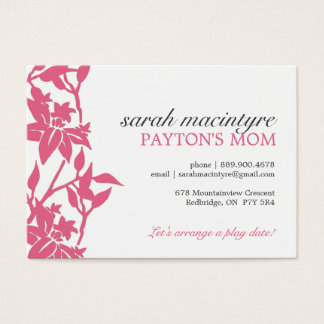 Floral Mommy Calling Cards