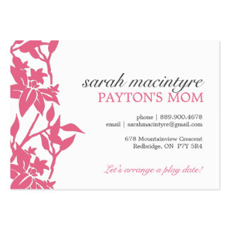 Floral Mommy Calling Cards Large Business Cards (Pack Of 100)