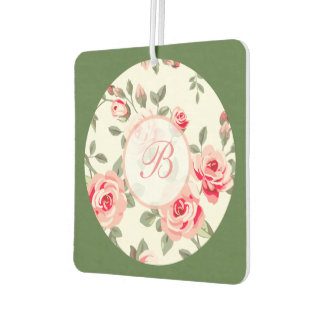 Floral Monogram Air Freshener