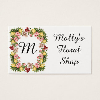 Floral Monogram Business Card