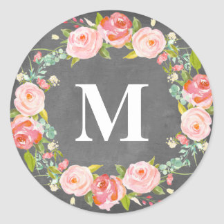 Floral Monogram | Favor Labels
