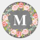 Floral Monogram | Favour Labels
