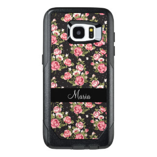 Floral Monogram Ladies OtterBox Samsung Galaxy S7 Edge Case