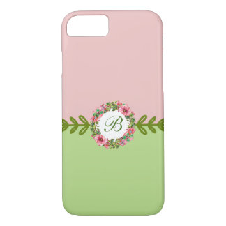 Floral Monogram Wreath Design iPhone 8/7 Case