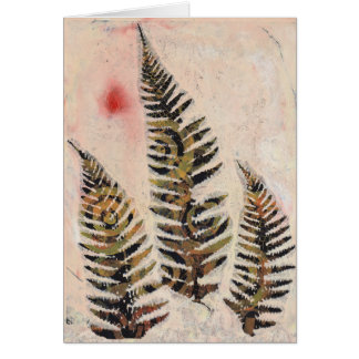 Floral Monoprint 17011025 Greeting Card