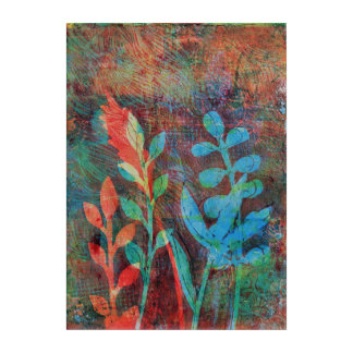 Floral Monoprint 17036745/1 Wall Art