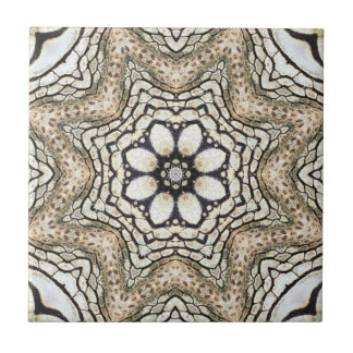 Floral Mosaic Nature Inspired Ceramic Tile