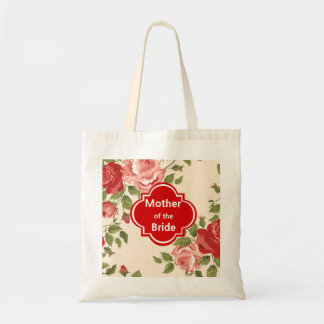 Floral Mother of the Bride Wedding Tote Bag