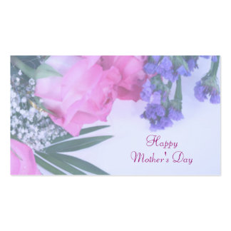 Floral Mother's Day Gift Tag Business Card Template