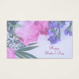 Floral Mother's Day Gift Tag Business Card
