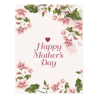 Floral Mothers Day Greeting Postcard