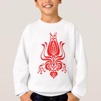 Floral motif from romanian. sweatshirt