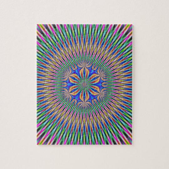 Floral Motif in Colour Jigsaw Puzzle