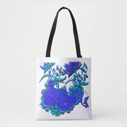 Floral Motif Remake Tote Bag