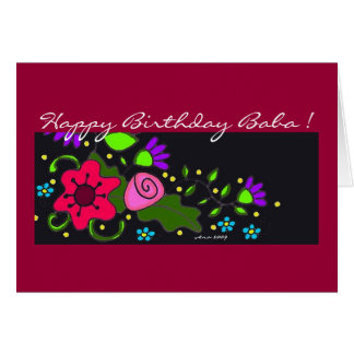 Floral Motif Ukrainian Folk Art Greeting Card