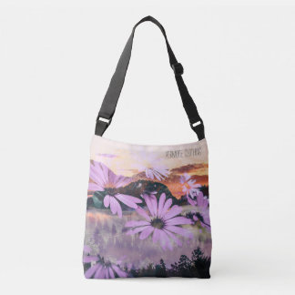 Floral Mountain Print Bag Purse Or Tote