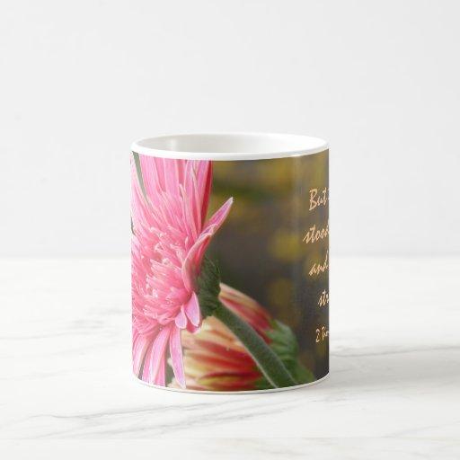 Floral Mug, Bible Verse about God's Strength