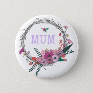 Floral Mum 2 Inch Round Button