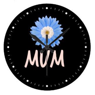 Floral Mum Large Clock