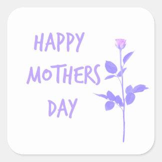 Floral Mum Square Sticker