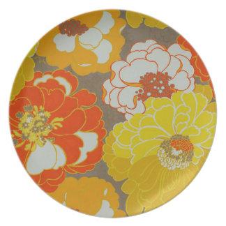 Floral Museum LA Melamine Plate