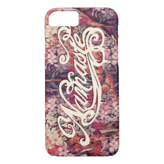 Floral Namaste Script iPhone 7 Case
