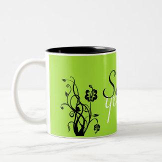 Floral Name Mug Template