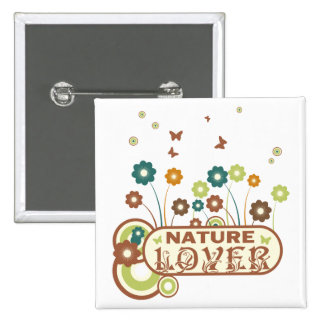 Floral Nature Lover 2 Inch Square Button