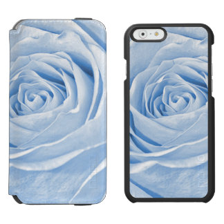 Floral Nature Photo Dainty Light Blue Rose Incipio Watson™ iPhone 6 Wallet Case