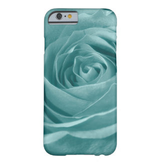 Floral Nature Photo Vibrant Aqua Rose Barely There iPhone 6 Case