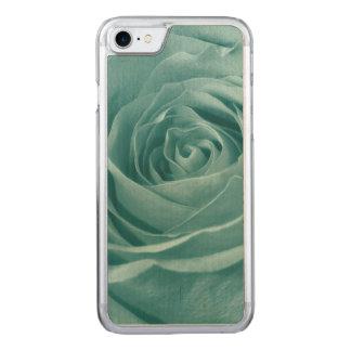 Floral Nature Photo Vibrant Aqua Rose Carved iPhone 7 Case