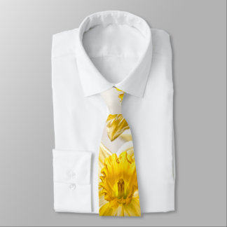 Floral Nature Phtography - Yellow Spring Daffodils Tie