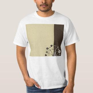 Floral noir et blanc et papillons tee-shirts