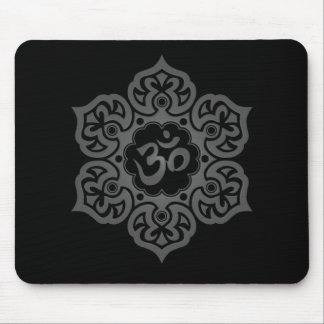 Floral Ohm Design (dark) Mouse Pad