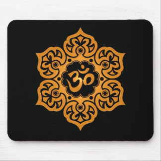 Floral Ohm Design (gold) Mouse Pad