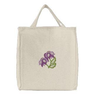 Floral Openwork Tote Canvas Bag