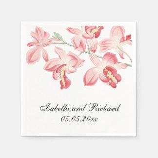 Floral orchid wedding elegant modern paper napkins