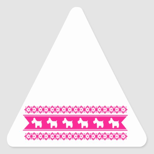 Floral ornaments and Westies Sticker