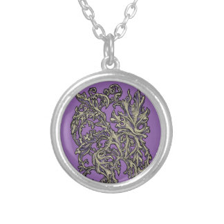 Floral Ornaments variation Silver Plated Necklace
