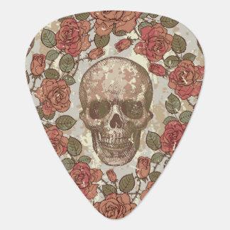 Floral Ornate Skull Guitar Pick