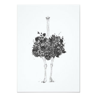 Floral ostrich card