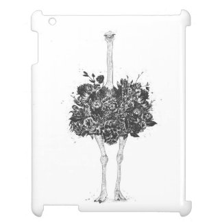 Floral ostrich case for the iPad