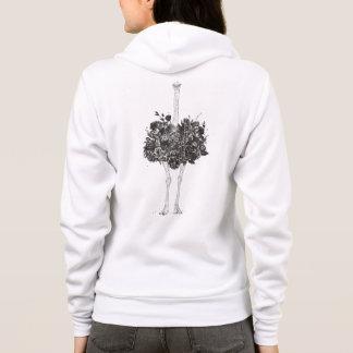 Floral ostrich hoodie