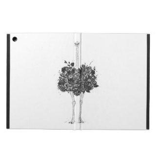 Floral ostrich iPad air cover