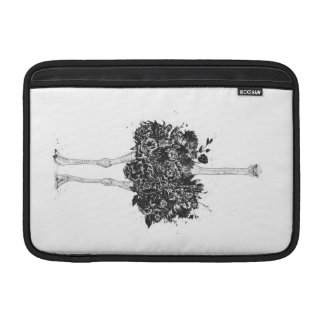 Floral ostrich MacBook sleeve
