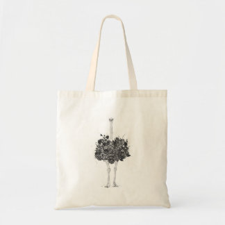 Floral ostrich tote bag