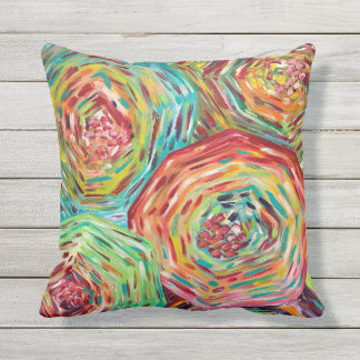 Floral outdoor pillow/ bright colored pillows